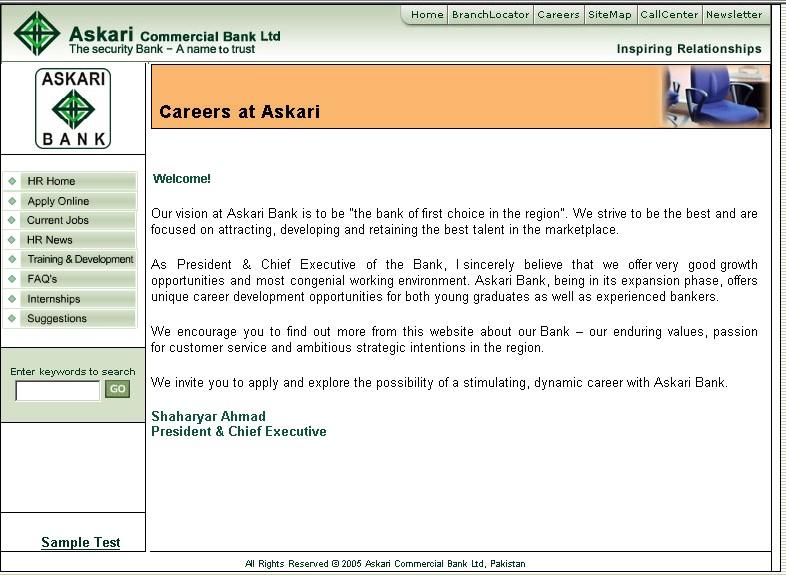 Askari Bank Careers
